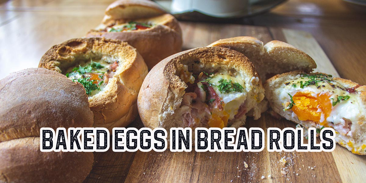 Easy Baked Egg in a Bread Roll