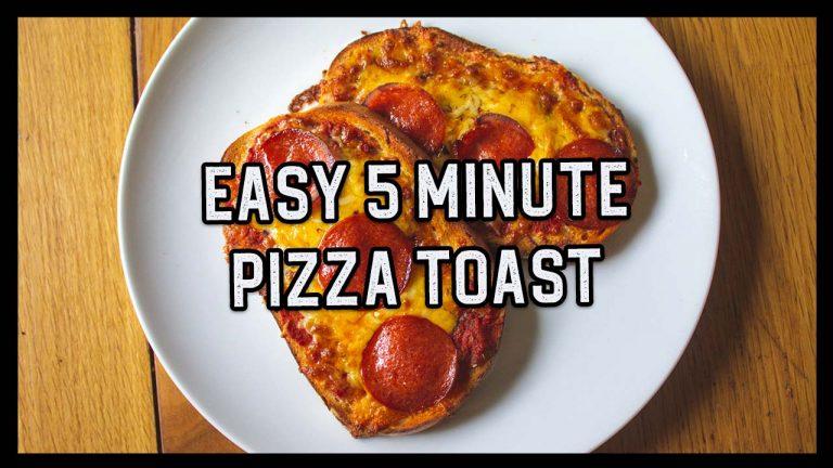 5 Minute Easy Pizza Toast